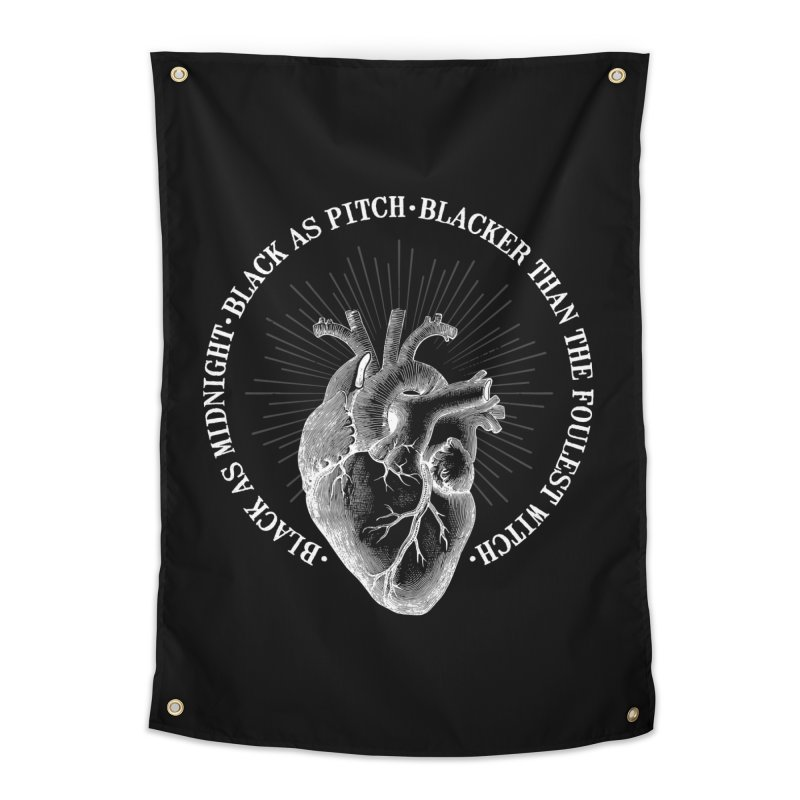 Blacker than the foulest witch Home Tapestry by ninthstreetdesign's Artist Shop