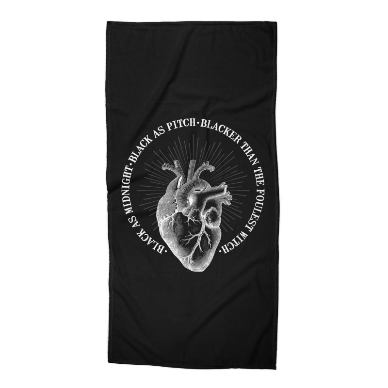 Blacker than the foulest witch Accessories Beach Towel by ninthstreetdesign's Artist Shop