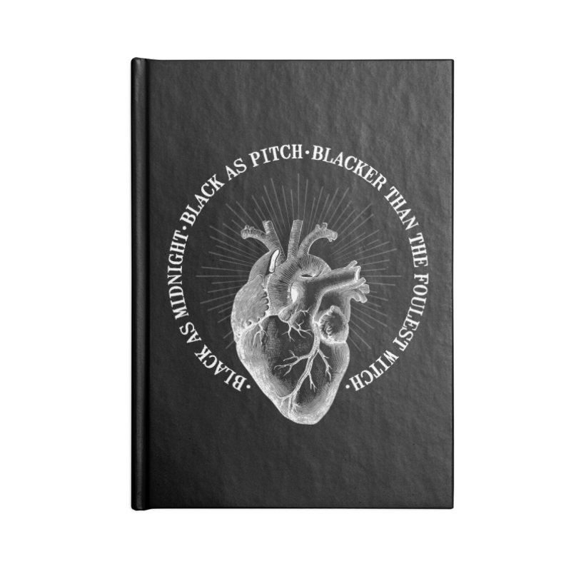 Blacker than the foulest witch Accessories Notebook by ninthstreetdesign's Artist Shop