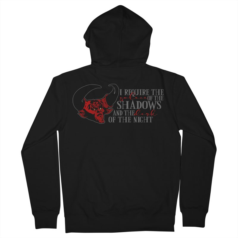 Darkness Women's French Terry Zip-Up Hoody by ninthstreetdesign's Artist Shop