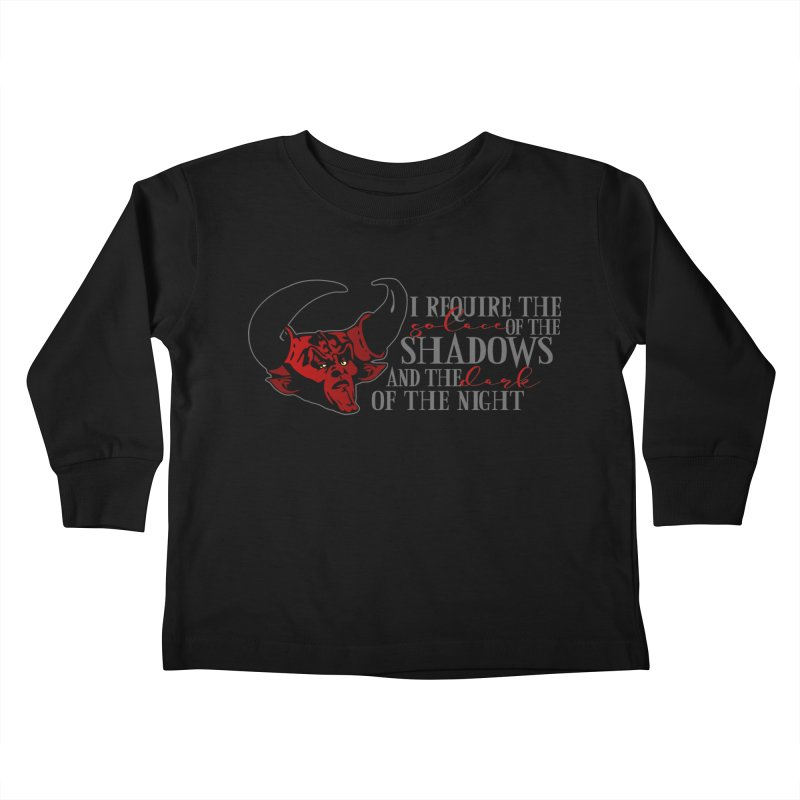 Darkness Kids Toddler Longsleeve T-Shirt by ninthstreetdesign's Artist Shop