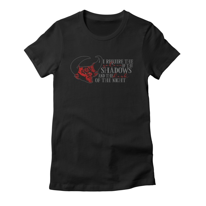 Darkness Women's Fitted T-Shirt by ninthstreetdesign's Artist Shop