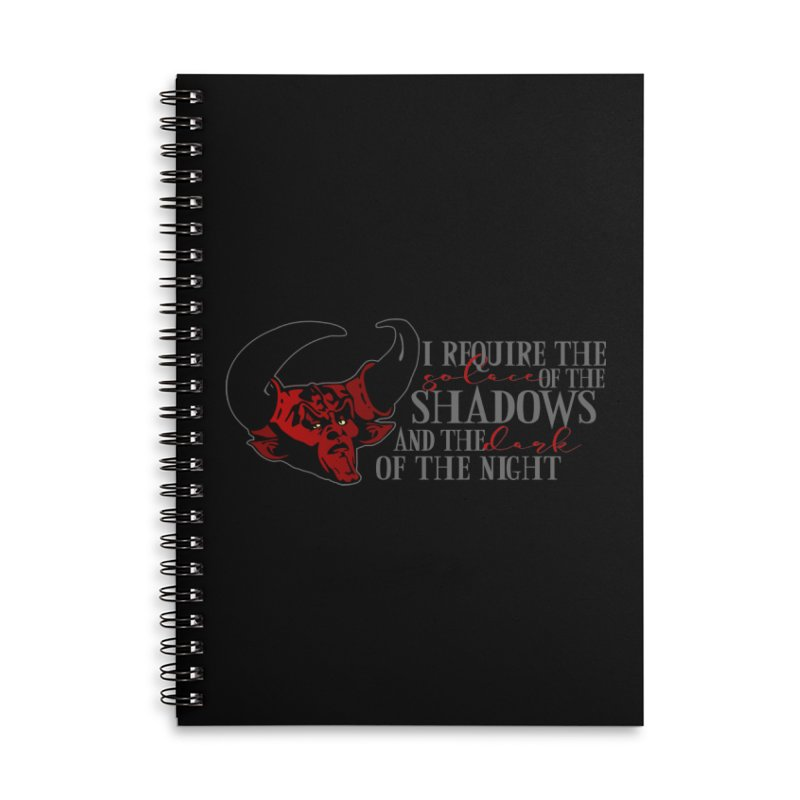 Darkness Accessories Lined Spiral Notebook by ninthstreetdesign's Artist Shop