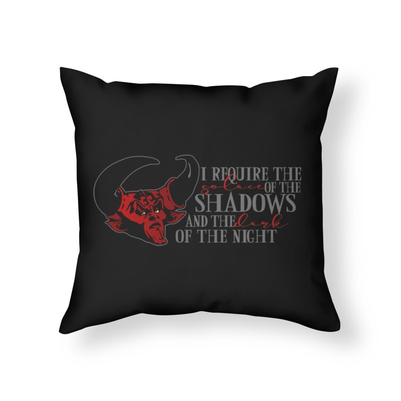 Darkness Home Throw Pillow by ninthstreetdesign's Artist Shop