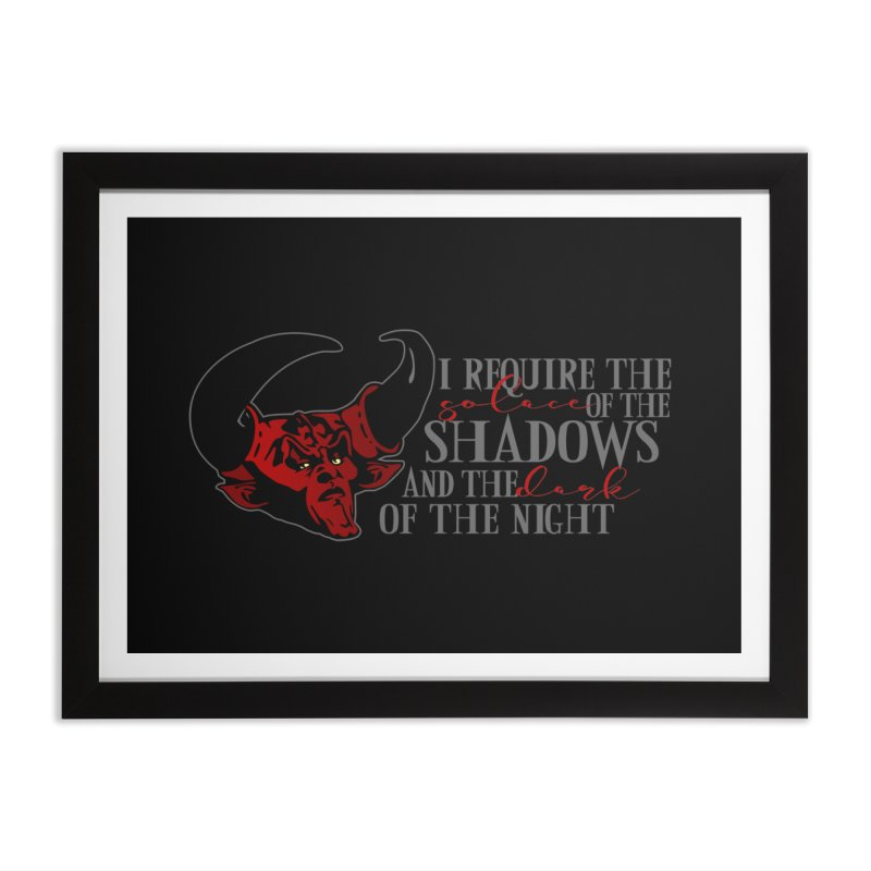 Darkness Home Framed Fine Art Print by ninthstreetdesign's Artist Shop