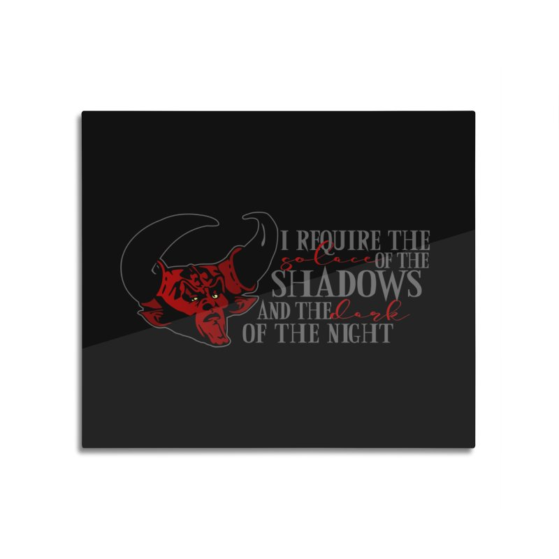 Darkness Home Mounted Aluminum Print by ninthstreetdesign's Artist Shop