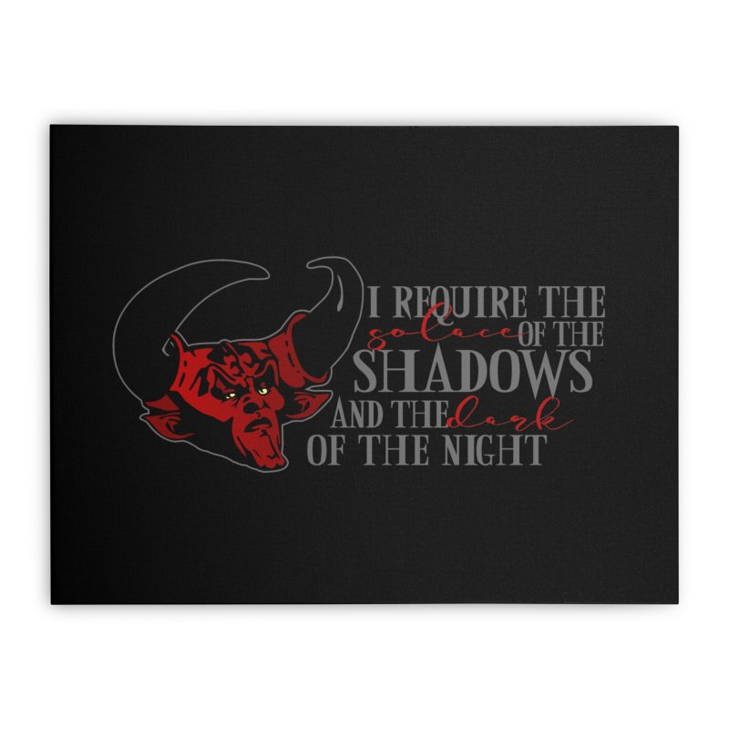 Darkness Home Stretched Canvas by ninthstreetdesign's Artist Shop