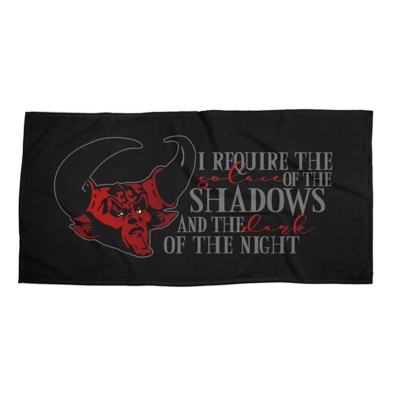 Darkness Accessories Beach Towel by ninthstreetdesign's Artist Shop