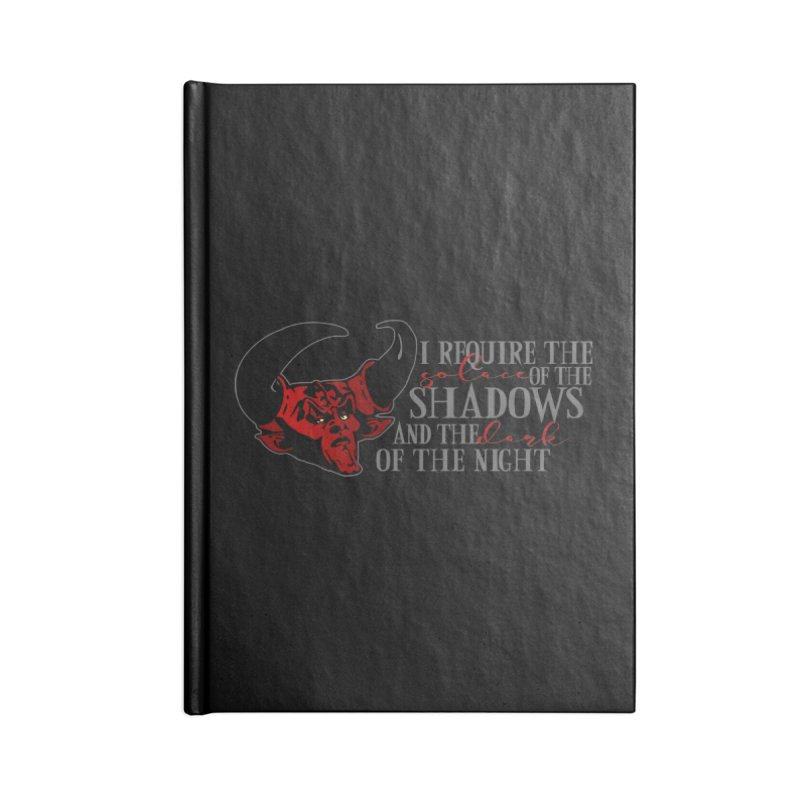 Darkness Accessories Lined Journal Notebook by ninthstreetdesign's Artist Shop