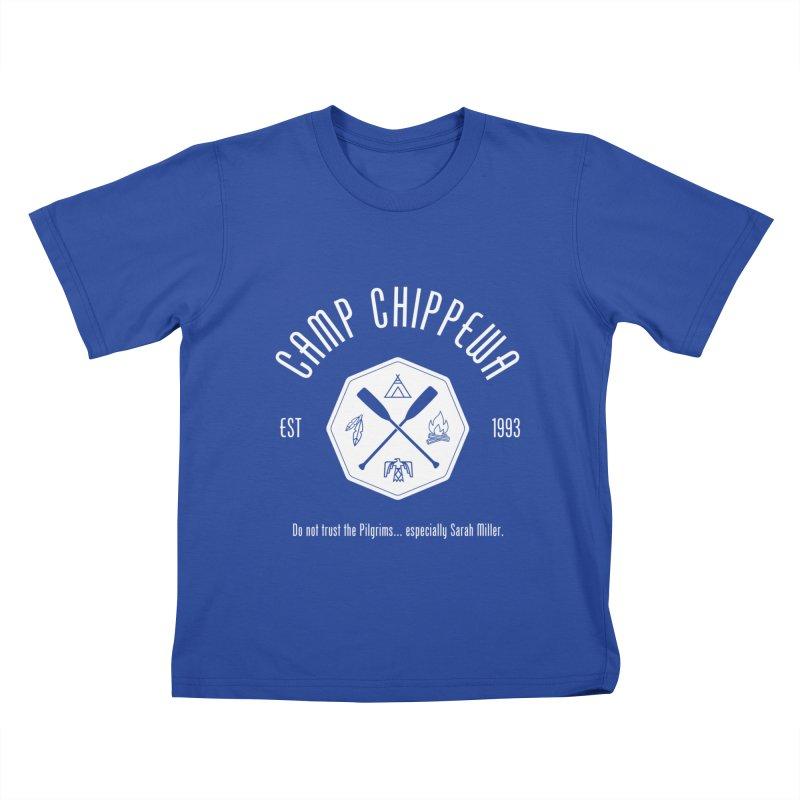 Camp Chippewa Kids T-Shirt by ninthstreetdesign's Artist Shop