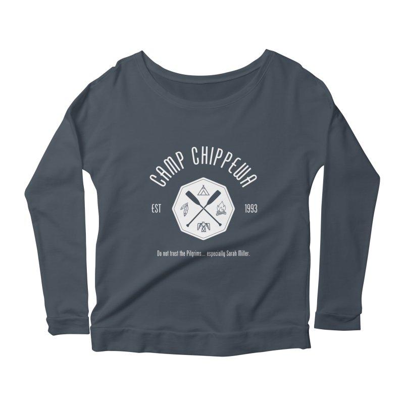 Camp Chippewa Women's Scoop Neck Longsleeve T-Shirt by ninthstreetdesign's Artist Shop