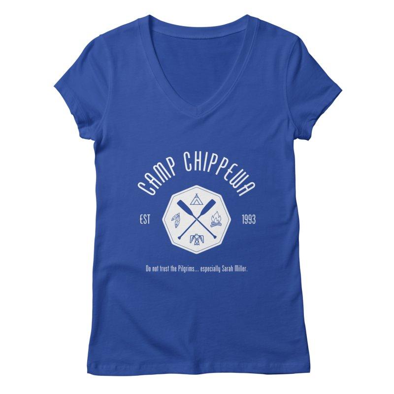 Camp Chippewa Women's Regular V-Neck by ninthstreetdesign's Artist Shop