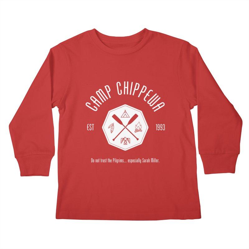 Camp Chippewa Kids Longsleeve T-Shirt by Ninth Street Design's Artist Shop