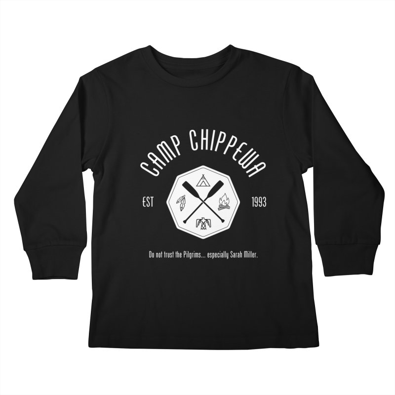 Camp Chippewa Kids Longsleeve T-Shirt by ninthstreetdesign's Artist Shop