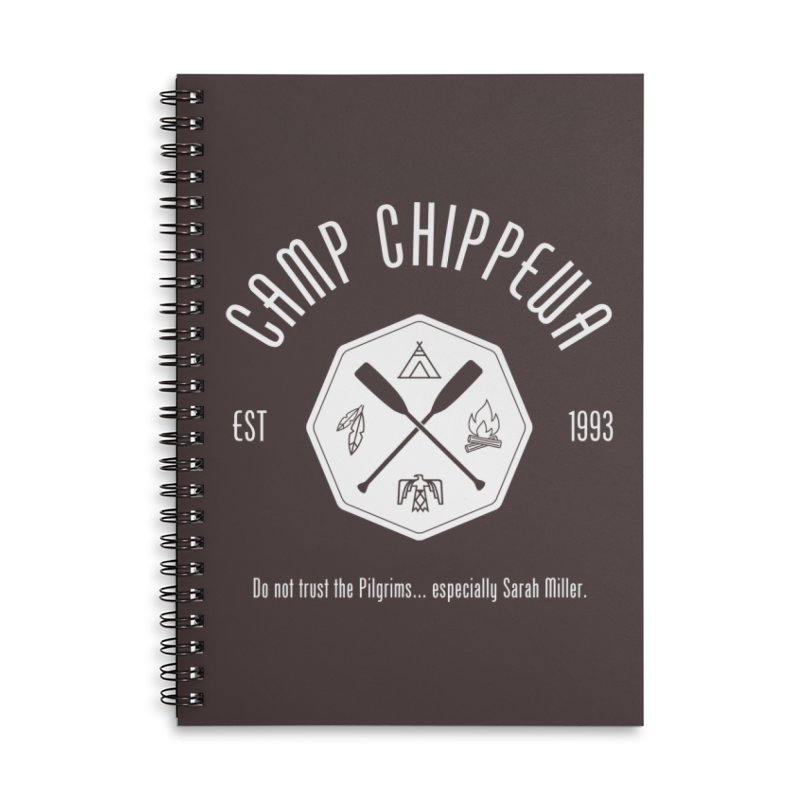 Camp Chippewa Accessories Lined Spiral Notebook by ninthstreetdesign's Artist Shop