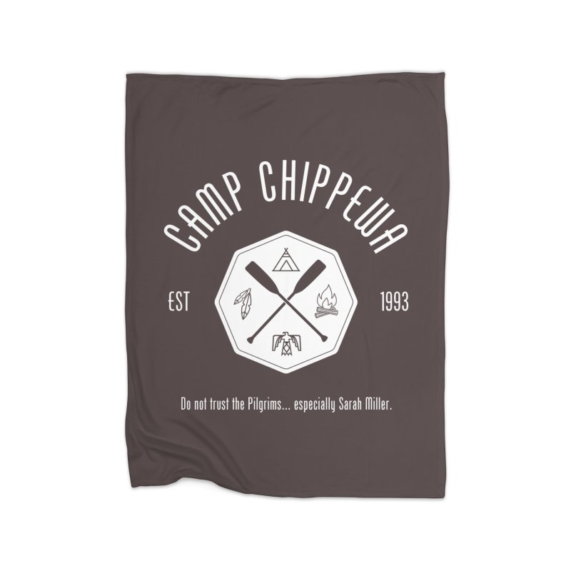 Camp Chippewa Home Fleece Blanket Blanket by ninthstreetdesign's Artist Shop