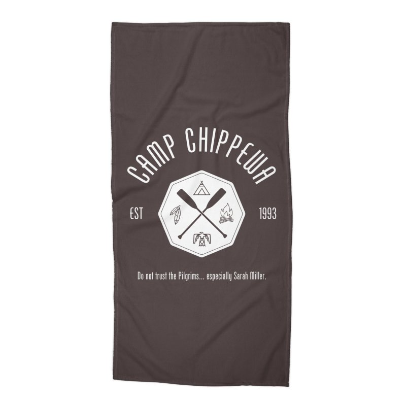 Camp Chippewa Accessories Beach Towel by ninthstreetdesign's Artist Shop