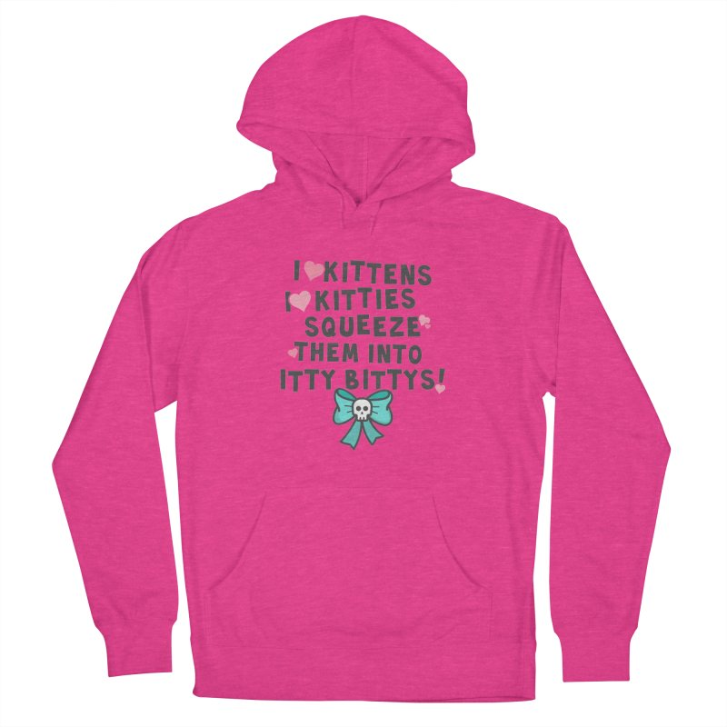 I <3 Kitties Men's French Terry Pullover Hoody by ninthstreetdesign's Artist Shop