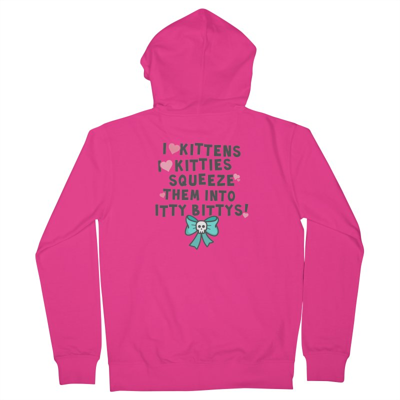 I <3 Kitties Men's French Terry Zip-Up Hoody by Ninth Street Design's Artist Shop