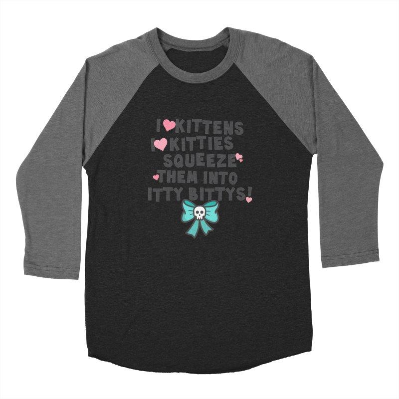 I <3 Kitties Men's Baseball Triblend T-Shirt by ninthstreetdesign's Artist Shop