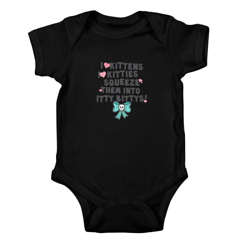 I <3 Kitties Kids Baby Bodysuit by ninthstreetdesign's Artist Shop