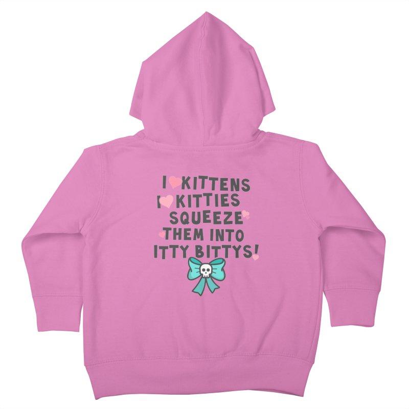 I <3 Kitties Kids Toddler Zip-Up Hoody by Ninth Street Design's Artist Shop