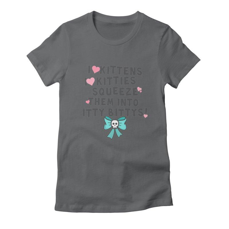 I <3 Kitties Women's Fitted T-Shirt by ninthstreetdesign's Artist Shop