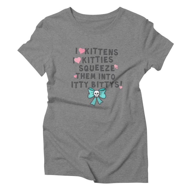 I <3 Kitties Women's Triblend T-Shirt by ninthstreetdesign's Artist Shop