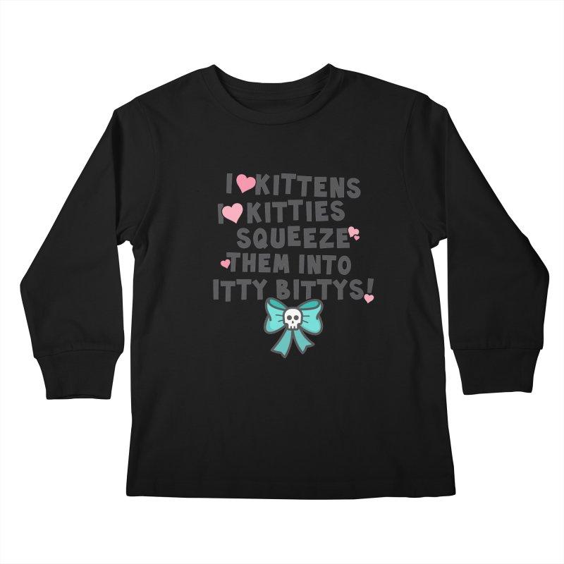 I <3 Kitties Kids Longsleeve T-Shirt by ninthstreetdesign's Artist Shop