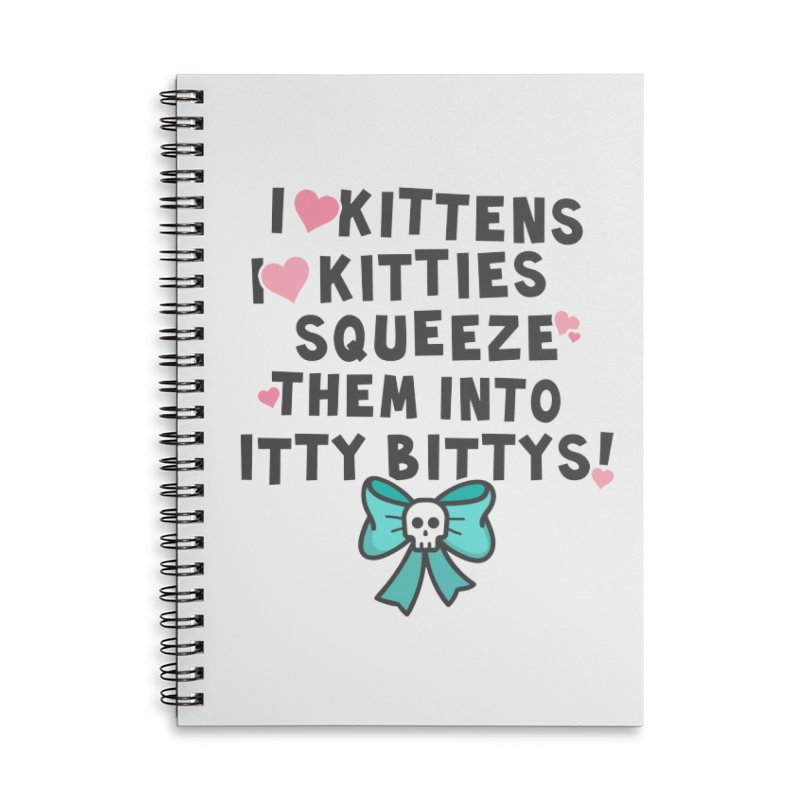 I <3 Kitties Accessories Lined Spiral Notebook by ninthstreetdesign's Artist Shop