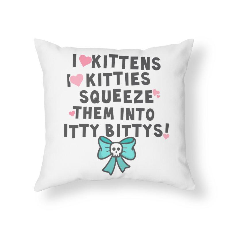 I <3 Kitties Home Throw Pillow by ninthstreetdesign's Artist Shop