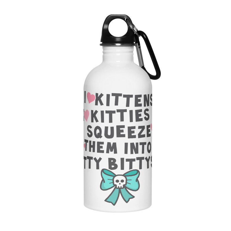I <3 Kitties Accessories Water Bottle by ninthstreetdesign's Artist Shop