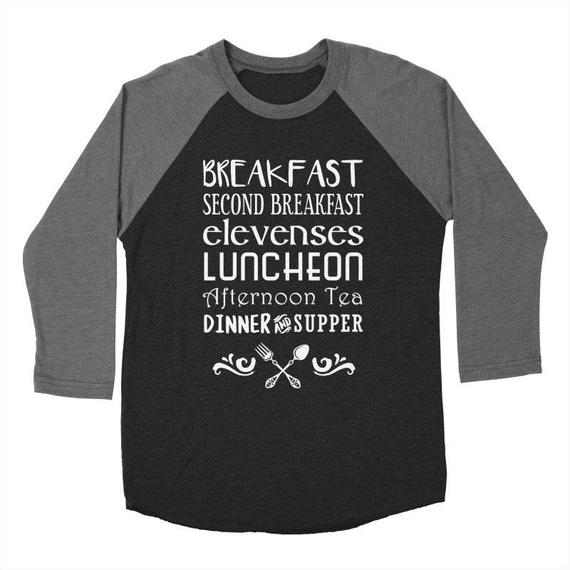 Hobbit diet Men's Baseball Triblend Longsleeve T-Shirt by ninthstreetdesign's Artist Shop