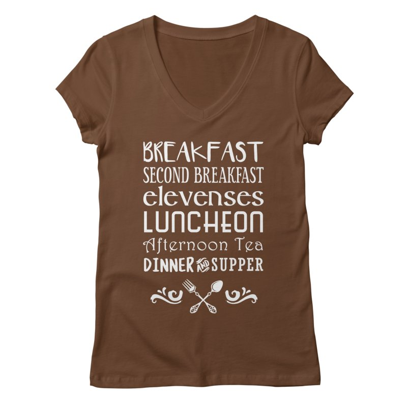 Hobbit diet Women's Regular V-Neck by ninthstreetdesign's Artist Shop