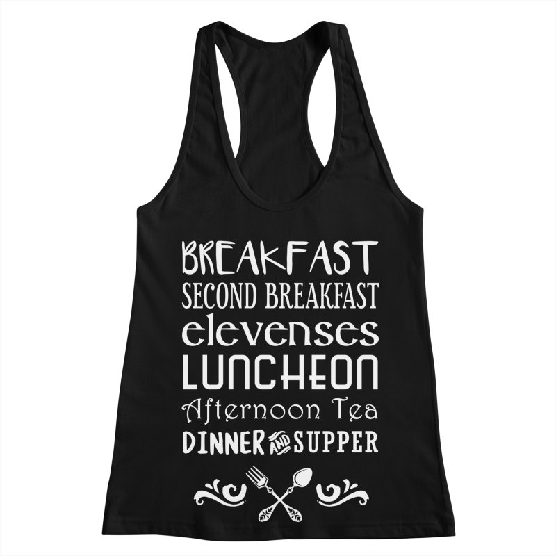 Hobbit diet Women's Racerback Tank by Ninth Street Design's Artist Shop