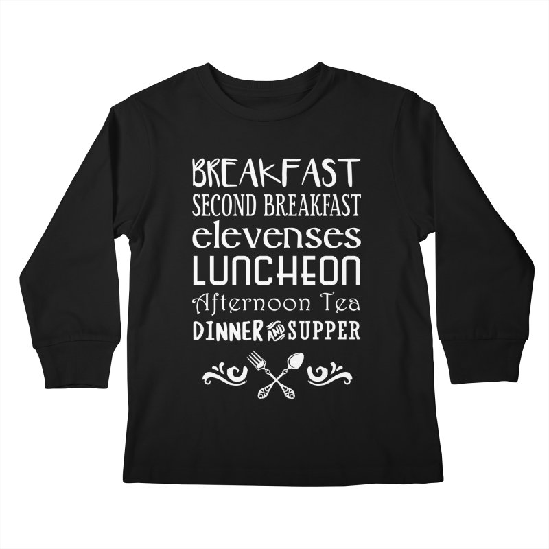 Hobbit diet Kids Longsleeve T-Shirt by Ninth Street Design's Artist Shop