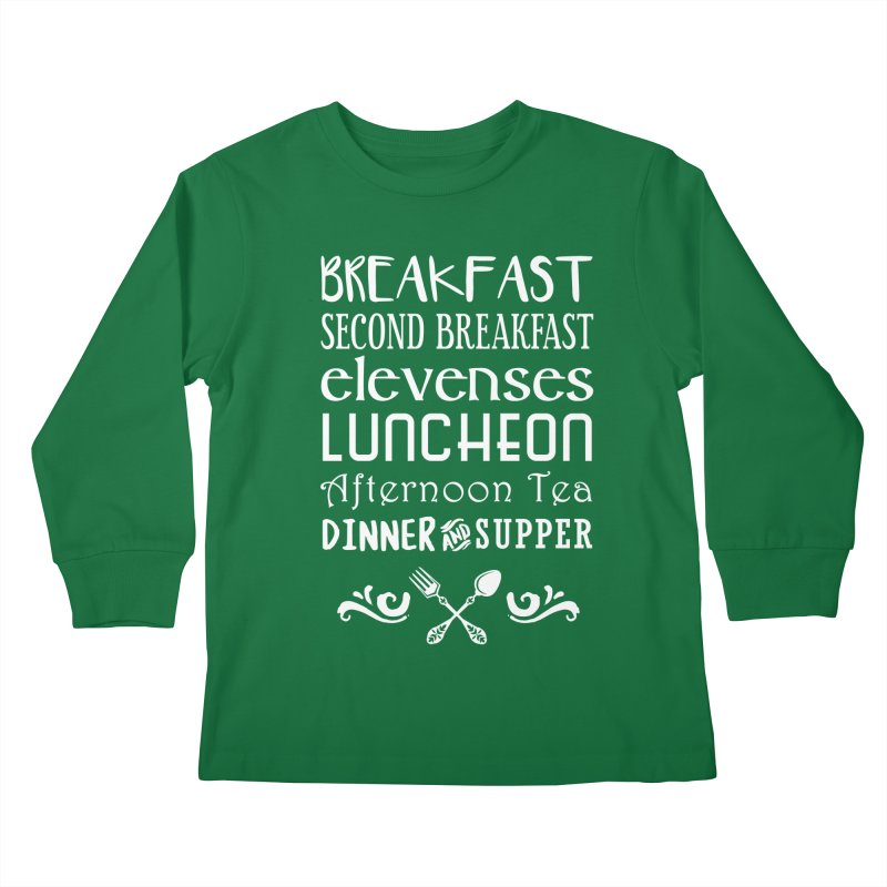 Hobbit diet Kids Longsleeve T-Shirt by ninthstreetdesign's Artist Shop