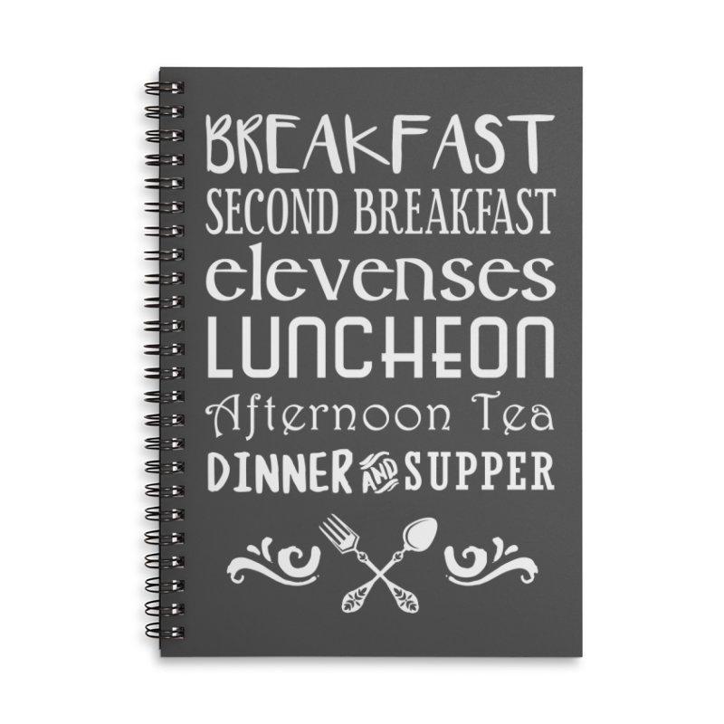 Hobbit diet Accessories Lined Spiral Notebook by ninthstreetdesign's Artist Shop