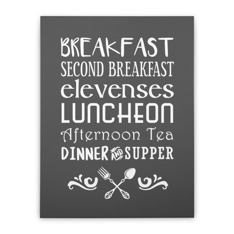 Hobbit diet Home Stretched Canvas by ninthstreetdesign's Artist Shop