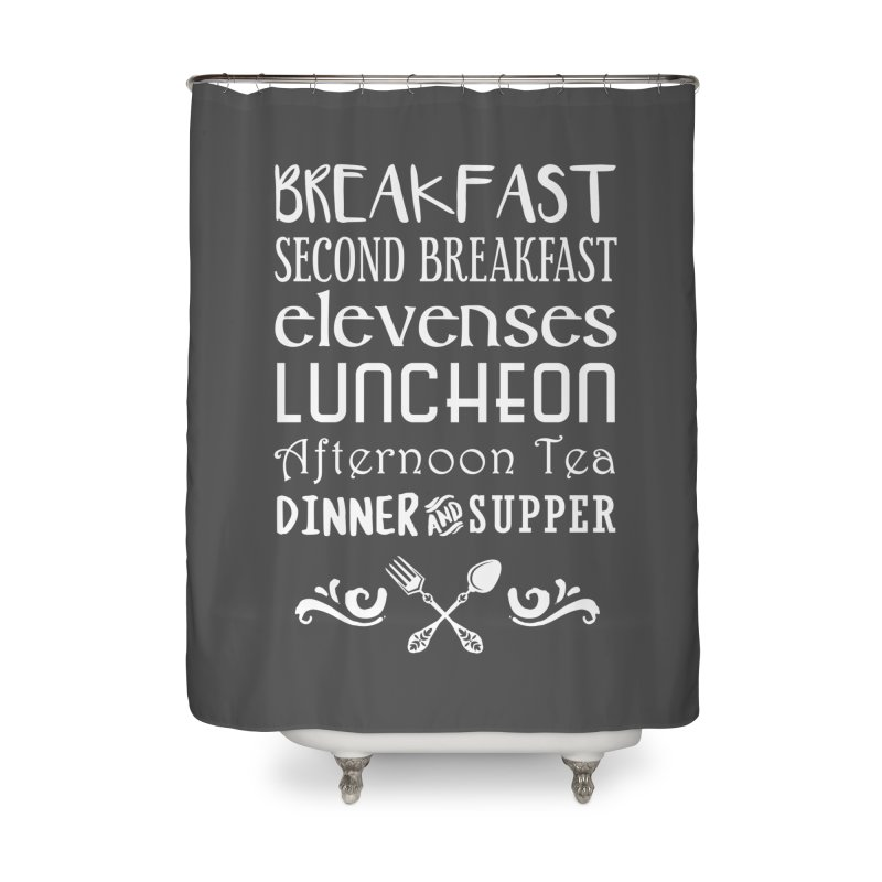 Hobbit diet Home Shower Curtain by ninthstreetdesign's Artist Shop