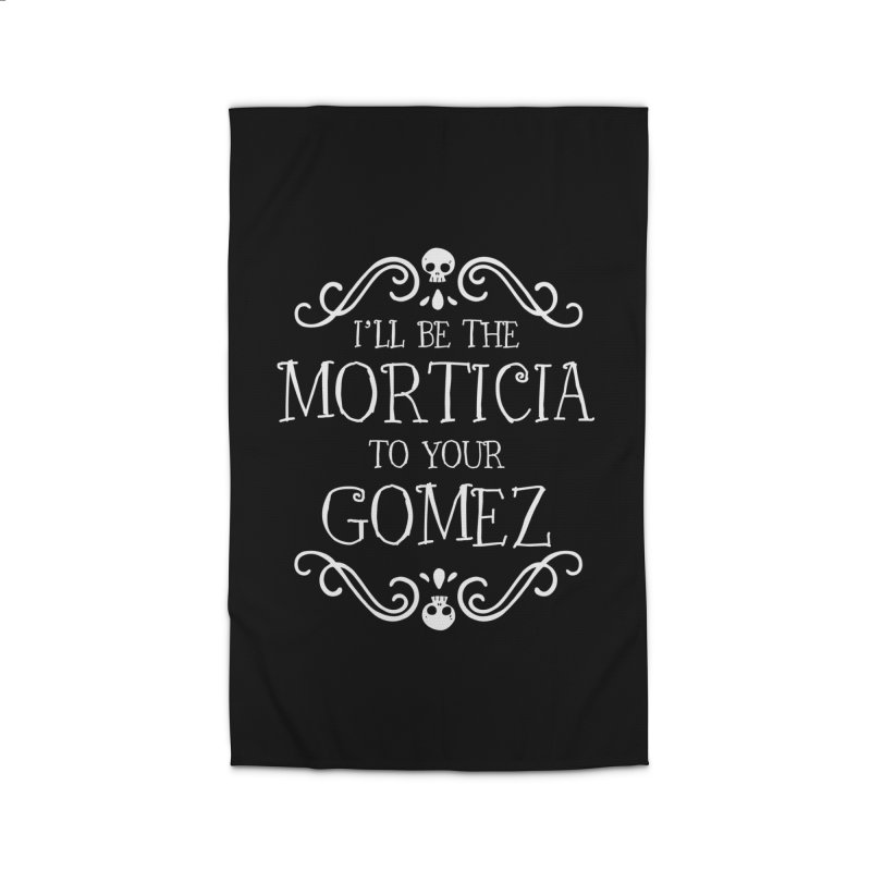 I'll be the Morticia to your Gomez Home Rug by Ninth Street Design's Artist Shop