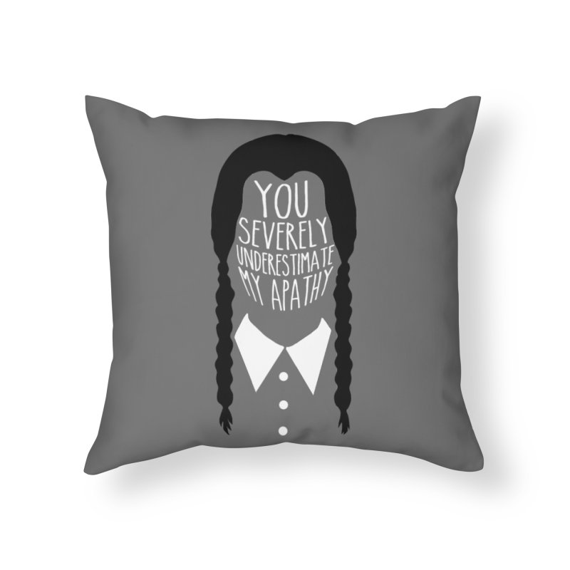 Wednesday Home Throw Pillow by ninthstreetdesign's Artist Shop