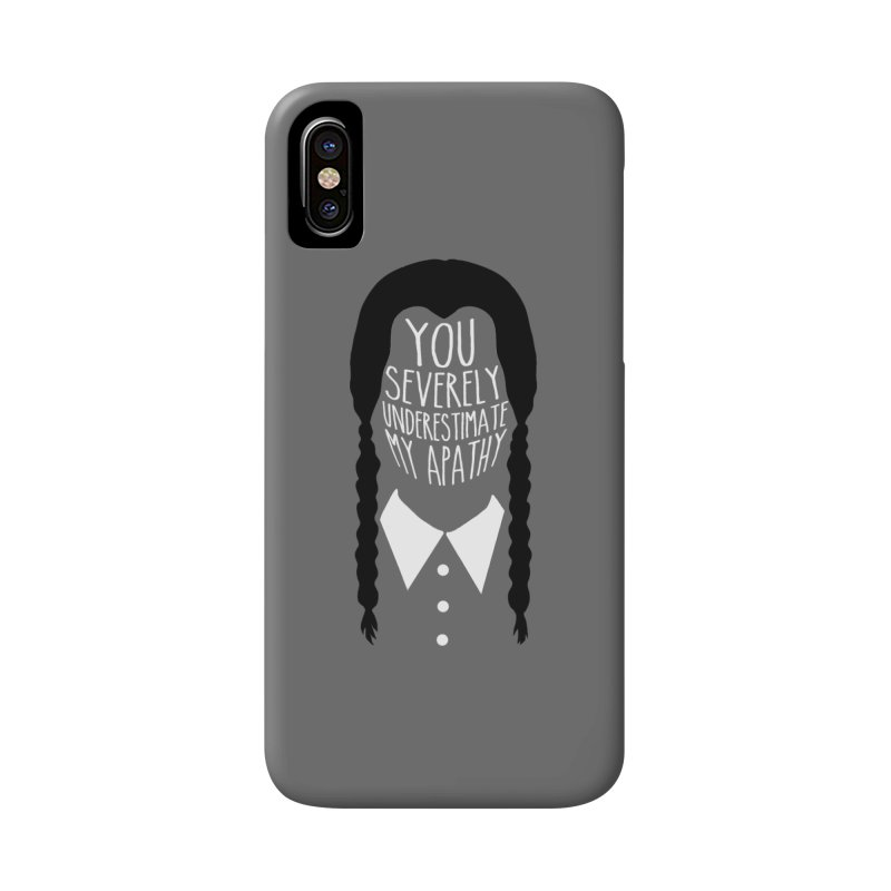 Wednesday Accessories Phone Case by ninthstreetdesign's Artist Shop