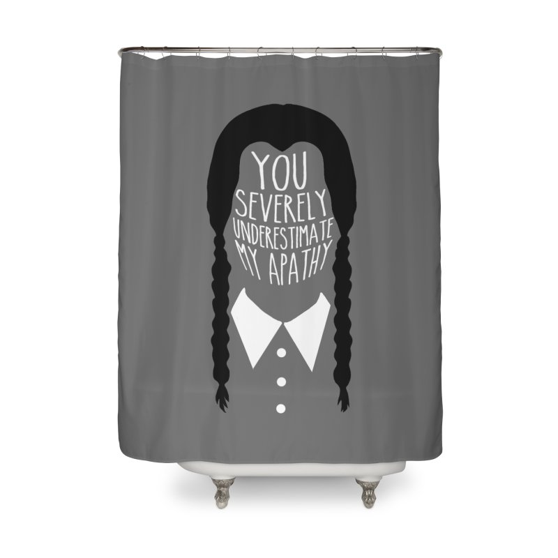 Wednesday Home Shower Curtain by ninthstreetdesign's Artist Shop