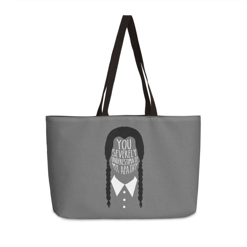 Wednesday Accessories Weekender Bag Bag by ninthstreetdesign's Artist Shop