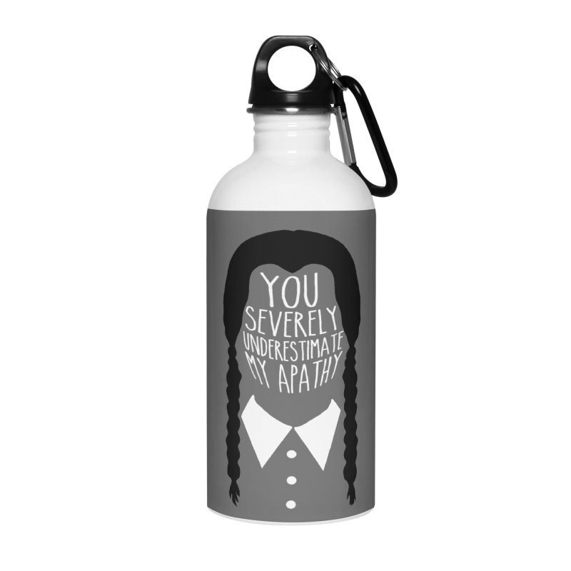 Wednesday Accessories Water Bottle by ninthstreetdesign's Artist Shop