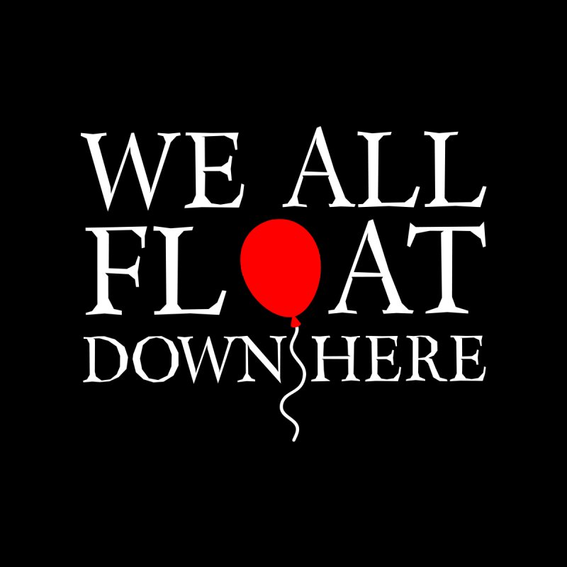We all float down here Home Stretched Canvas by ninthstreetdesign's Artist Shop