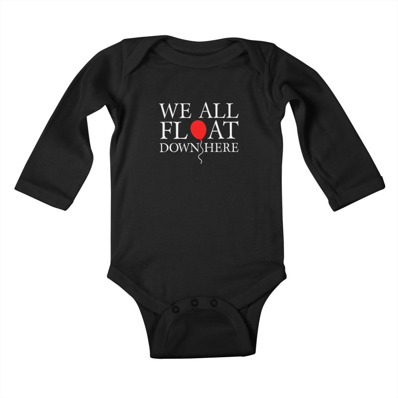 We all float down here Kids Baby Longsleeve Bodysuit by ninthstreetdesign's Artist Shop