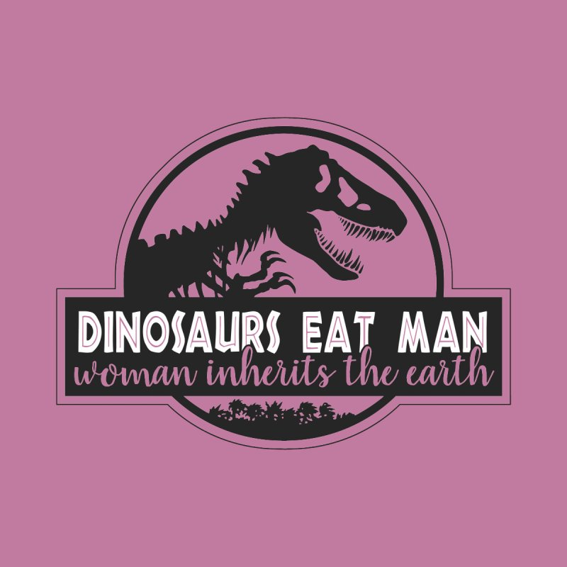Dinosaurs eat man Women's V-Neck by ninthstreetdesign's Artist Shop