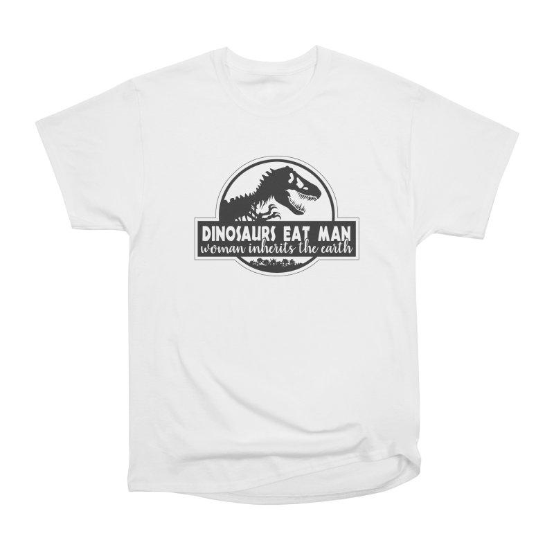 Dinosaurs eat man Men's Heavyweight T-Shirt by ninthstreetdesign's Artist Shop
